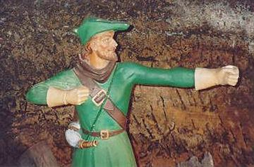 Robin Hood in the caves underneath a Nottingham pub.