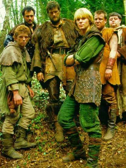 Mark Ryan and the Merry Men from the third series. Jason Connery is Robin.