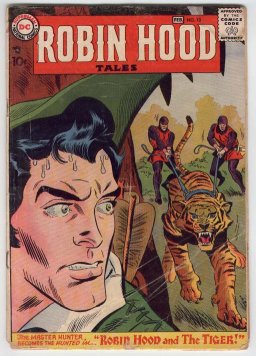 Robin Hood fought a menagerie of beasts in the DC issues.