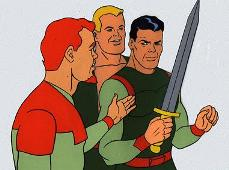 Will, Little John and Rocket Robin Hood